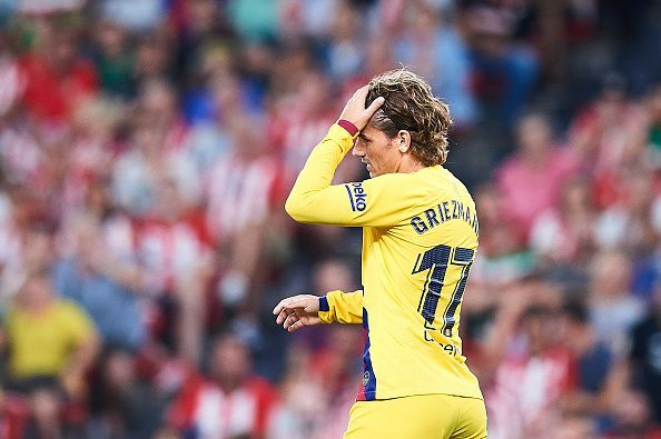 Antoine Griezmann failed to impress on his competitive debut for the Catalans