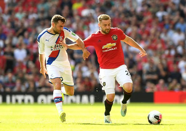 Luke Shaw suffered a hamstring injury against Crystal Palace