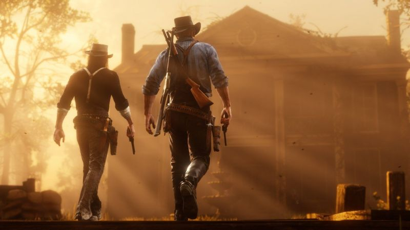 Arthur and John in Red Dead Redemption 2