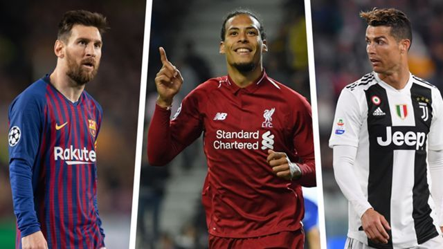 Messi, Ronaldo and Van Dijk earn nominations for UEFA Champions League awards