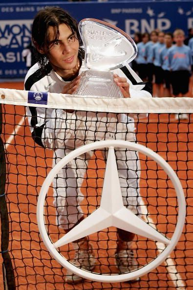 The 18-year-old Nadal wins his 1st Masters 1000 title at 2005 Monte Carlo