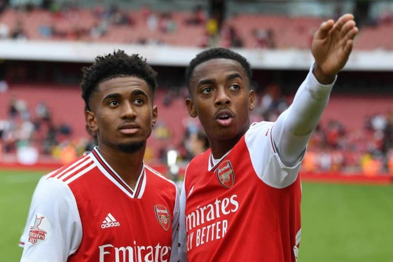 Reiss Nelson (L) and Joe Willock (R)
