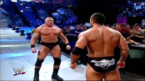 The Rock and Brock Lesnar face off mere days before their SummerSlam match