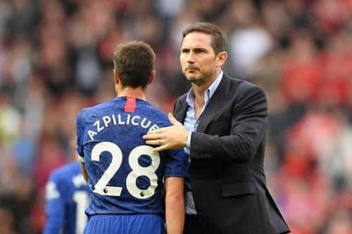 Lampard applauded the away fans who sung his name after the full-time whistle at Old Trafford