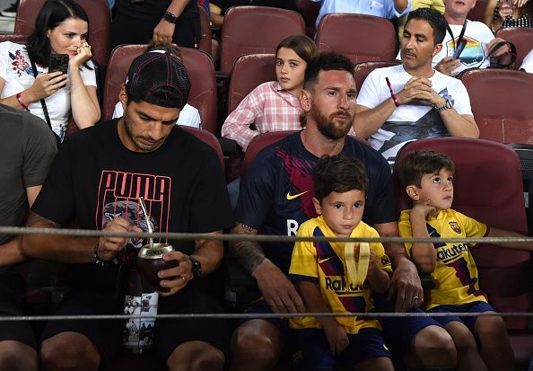 Messi watched the game from the stands
