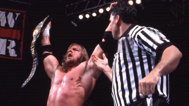 Triple H wins his first WWE Championship one day late on the August 23, 1999 Raw