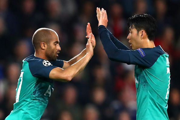 Son Heung-Min and Lucas Moura will test the Gunners
