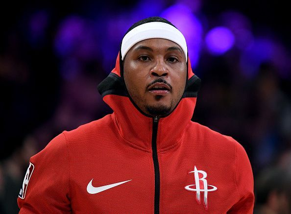 Carmelo Anthony played just 10 times during the 2018-19 NBA season