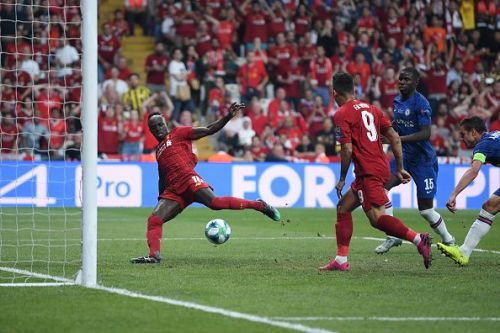 Mane responds with a close-range effort for Liverpool