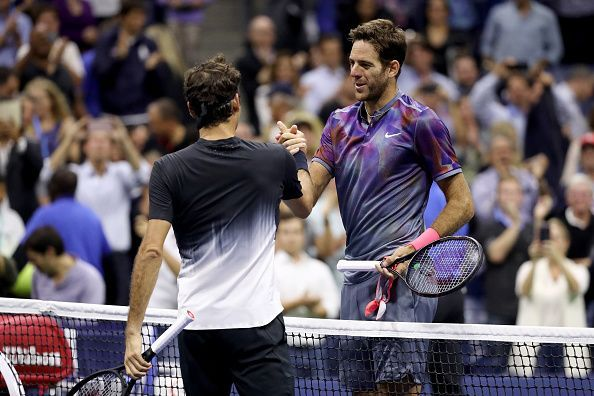 In the 2017 quarterfinals, Federer came up short for the second time against Del Potro at the US Open