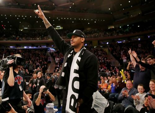 Carmelo Anthony at a Knicks/Heat game