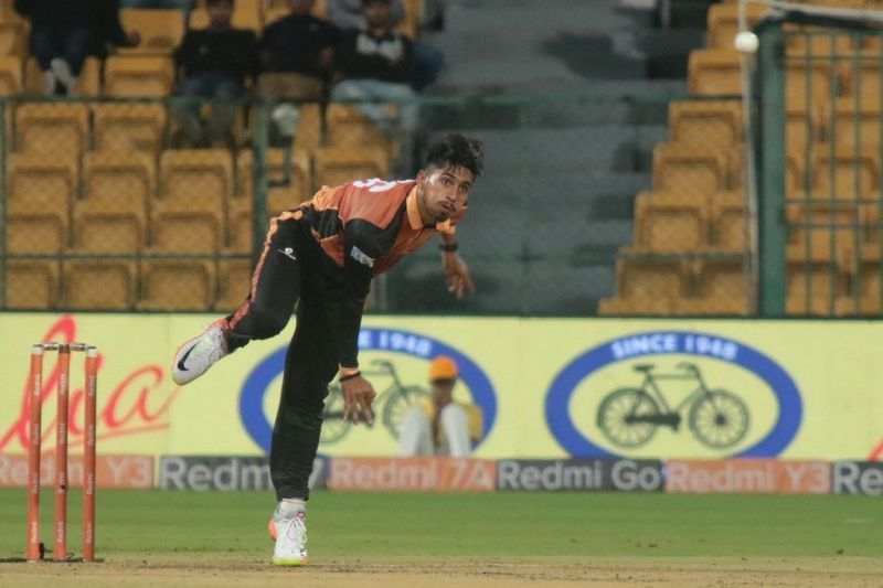 Praveen Dubey is seen in action for the Hubli Tigers