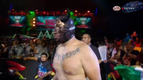 Velazquez under a mask during his debut with AAA