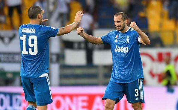Captain Giorgio Chiellini scored the only goal of the game at Parma on the opening day.