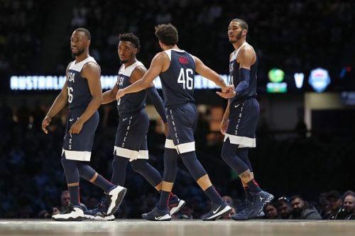 Team USA in action against Australia