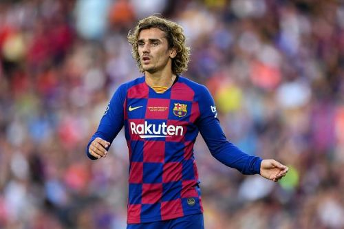 Antoine Griezmann is expected to make his official debut for Barcelona today.