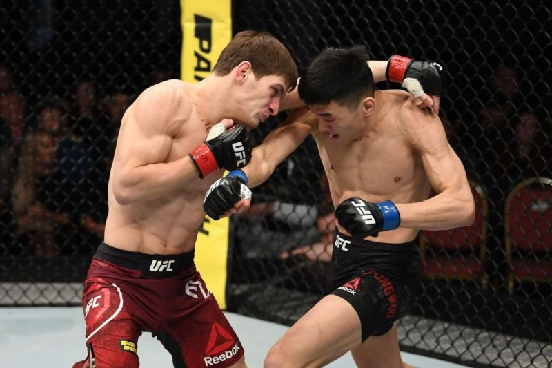 Movsar Evloev will have to wait for his second UFC fight after his scrap with Lu Zhenhong was cancelled
