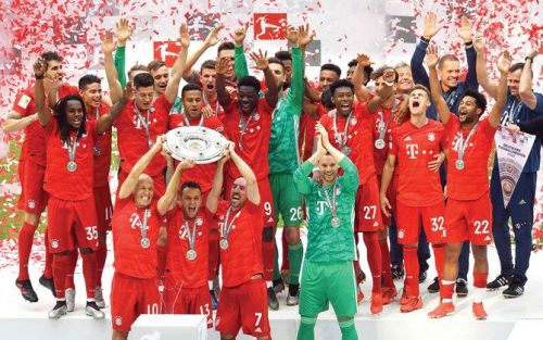 Bayern Munich won the domestic double last season