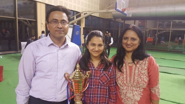 With my parents! Source: Chessbase India