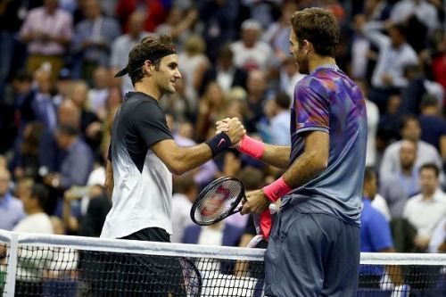 Juan Martin del Potro after defeating Federer at the 2017 US Open