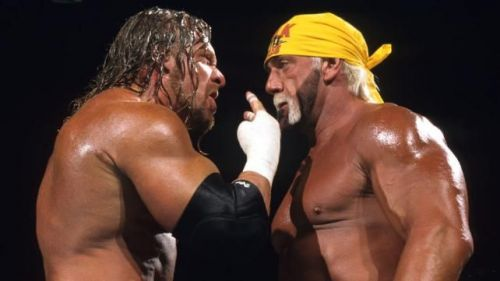 WWE legends Triple H and Hulk Hogan are no strangers to each other inside the squared circle