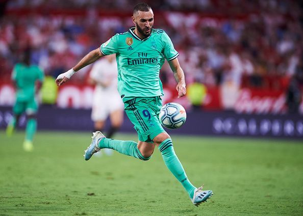 Karim Benzema, with two other players, is the top scorer in La Liga this season, with five goals.