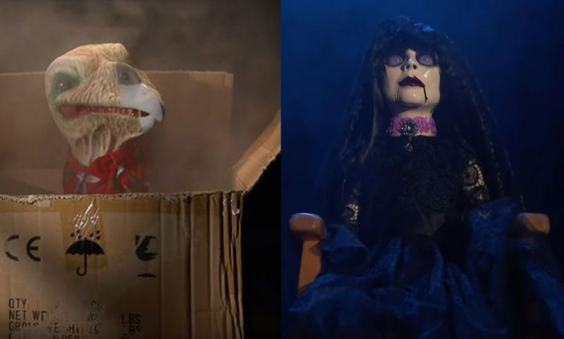 Mercy the Buzzard and Abby the Witch in pre-Firefly Fun House vignettes