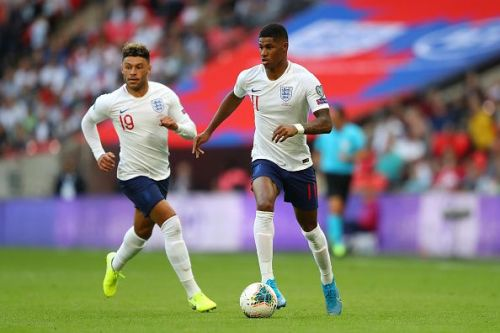 Marcus Rashford had a lively game against Bulgaria.
