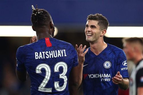 Christian Pulisic featured in the EFL Cup for Chelsea against Grimsby Town