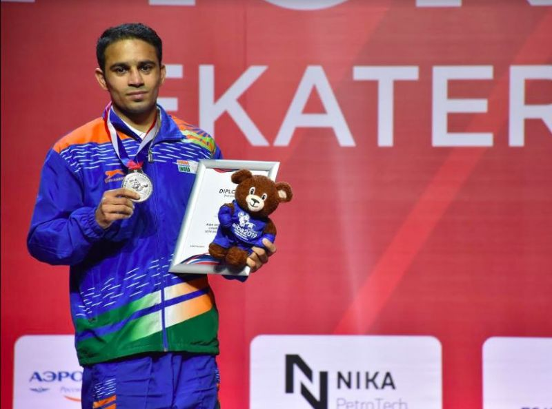 Amit Pangal becomes the first Indian Male boxer to win a Silver medal at the AIBA World Boxing Championships