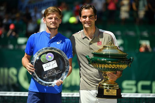 Federer won his last match with Goffin, in the final of Halle 2019