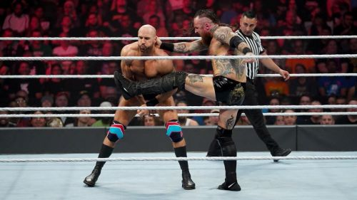 Cesaro was the first one to pick a fight with Aleister Black.