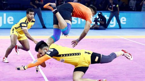 Will the Telugu Titans defence be able to stop Naveen's riot?