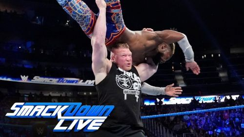 Brock Lesnar returned to SmackDown Live after almost 15 years and took out Kofi Kingston