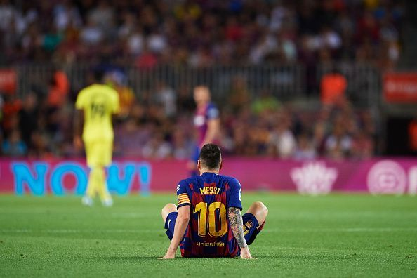 Messi returned on the pitch for one half but was taken off due to injury