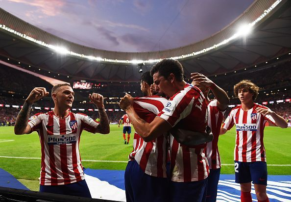 Atletico Madrid enter the weekend at the top of the table