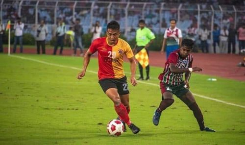 Lalrindika Ralte (left) will play a vital role for East Bengal against Kalighat MS