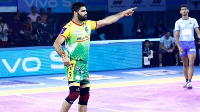 Pardeep Narwal recently scored 26 raid points versus Tamil Thalaivas