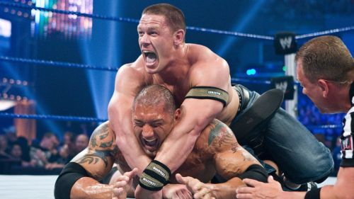 Before they collided as opponents, John Cena and Batista were in contention to be the new face of WWE.