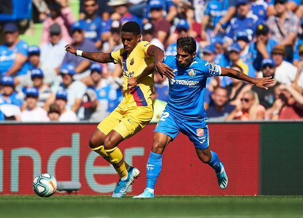 Junior Firpo scored his first goal for Barcelona against Getafe