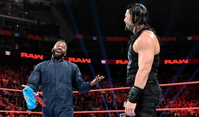Cedric Alexander sharing a ring with Roman Reigns