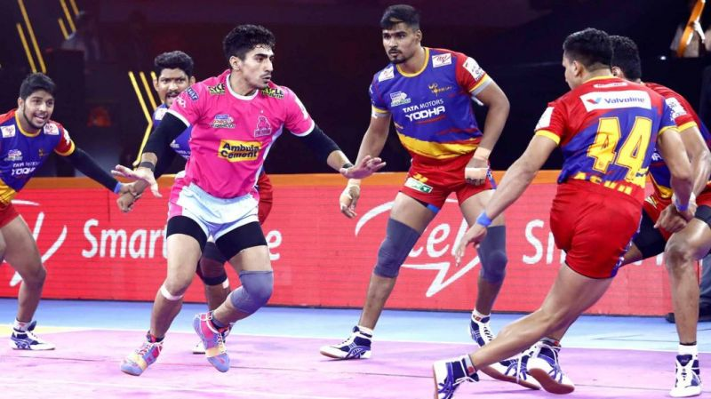 UP Yoddha won a close-called battle against the Jaipur Pink Panthers