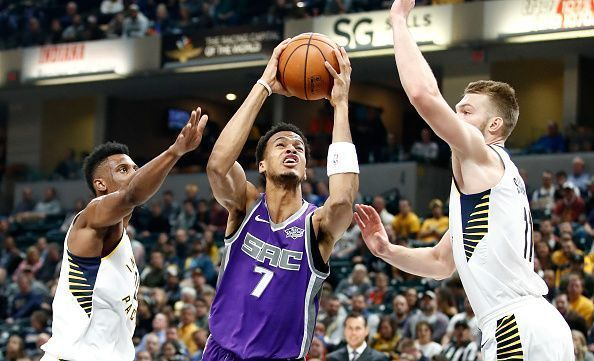 Indiana Pacers and Sacramento Kings in action during the 2018-19 season
