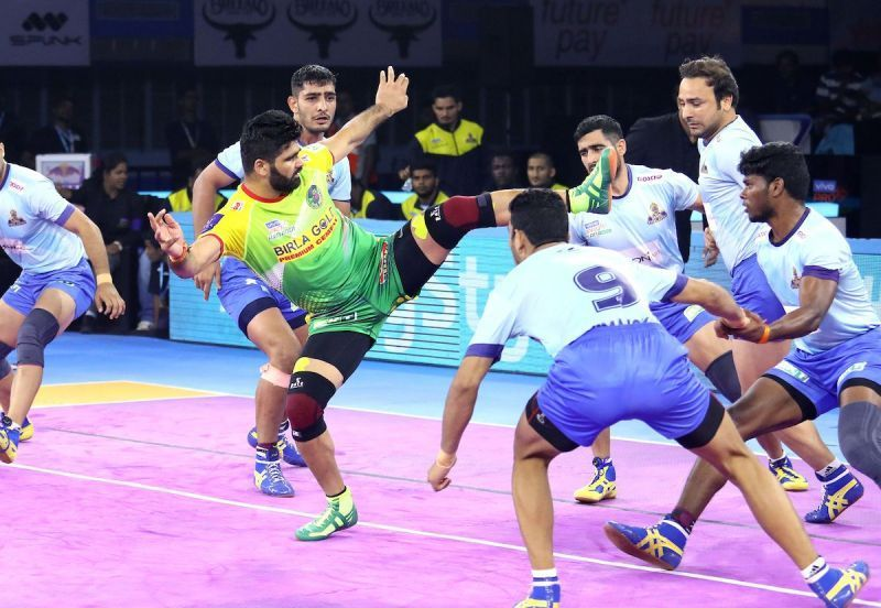 Pardeep Narwal destroyed the Tamil Thalaivas defence single-handedly