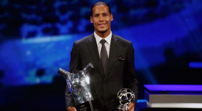 Van Dijk became the first defender to be named UEFA Best Men's Player of the Year