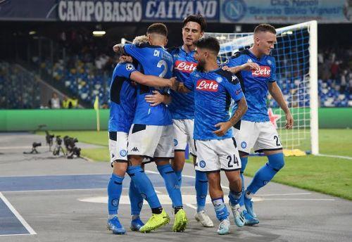 Carlo Ancelotti's men celebrate!