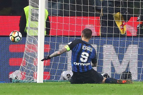 Icardi failed to finish a couple of chances from 6 yards out