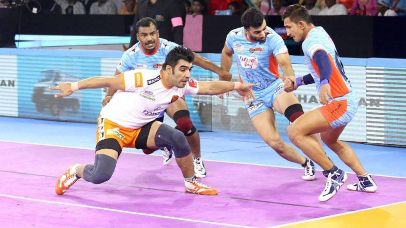 Home team Bengal Warriors clinched the victory over Puneri Paltan