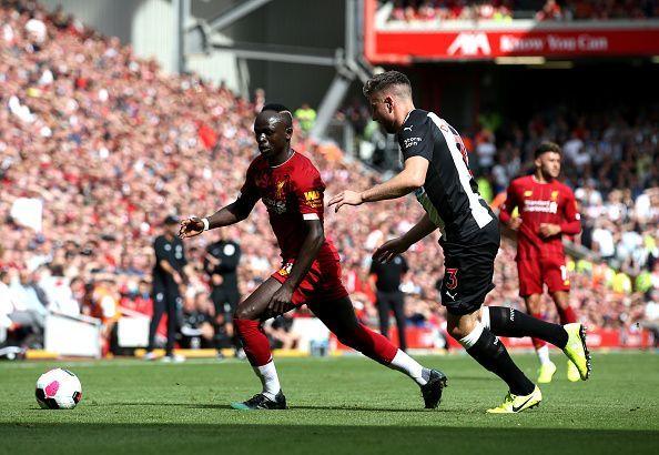 Paul Dummett stuck to his task well against Liverpool