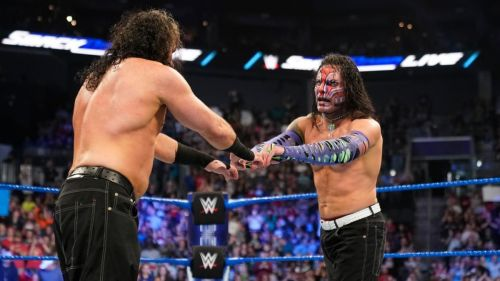 The Hardy Boyz relinquished the SmackDown Tag Team titles in April 2019